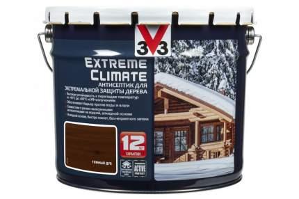 Антисептик для экстремальной защиты V33 Extreme Climate 9 л, Цвет темный дуб