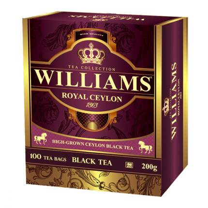 Чай Williams - Royal Ceylon черный 100 пакетиков