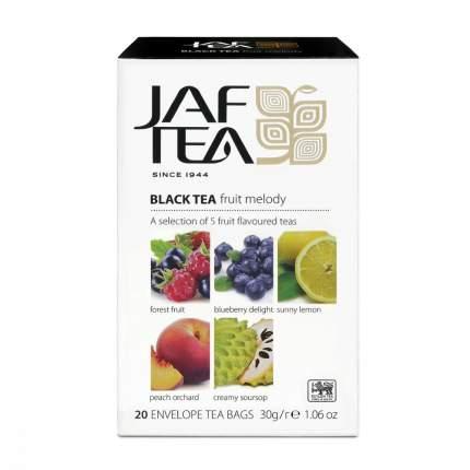 Чай Jaf Tea Fruit Melody черный с добавками ассорти 5 видов по 4 сашета