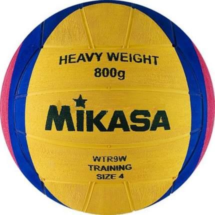 Мяч для водного поло Mikasa WTR9W, 4, желтый/розовый/синий
