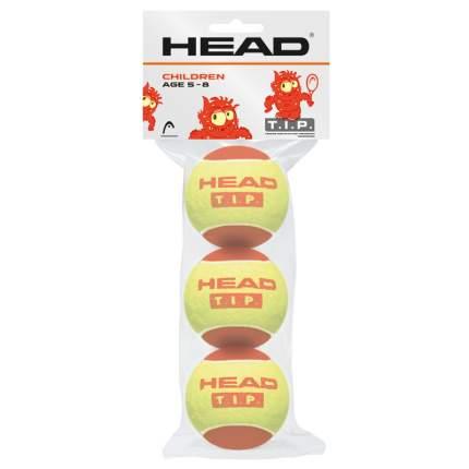 Мяч теннисный Head T.I.P Red Для детей, желтый/красный