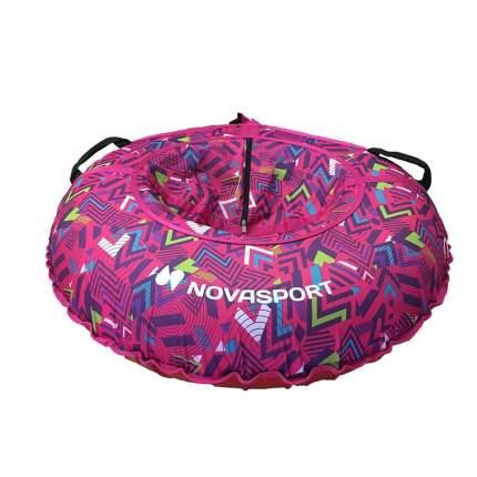 Тюбинг NovaSport 110 см с камерой в сумке CH031.110.4.1 розовая абстракция