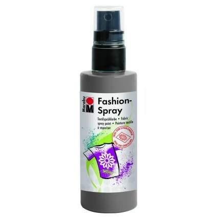 Краска-спрей Marabu Fashion Spray Для ткани 171950078 серый 100 мл