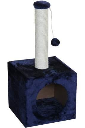 Домик для кошек Pet Choice с игрушкой, темно-синий, 31x31x70 см