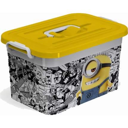 Ящик для игрушек Полимербыт Миньоны 10 литров с вкладышем