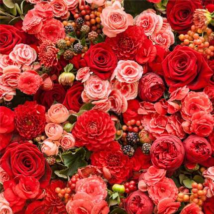 Картина на холсте 30x30 Красные розы Ekoramka HE-101-456