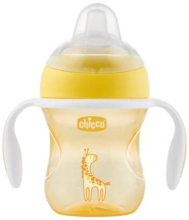Чашка-поильник Chicco Transition Cup, 200 мл, Желтый