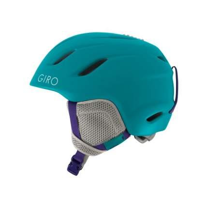 Горнолыжный шлем детский Giro Nine Jr 2018, голубой, S