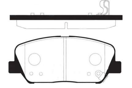 Комплект тормозных колодок Sangsin brake SP1403