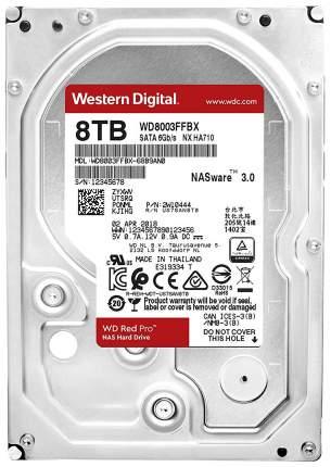 Внутренний жесткий диск Western Digital Red Pro 8TB (WD8003FFBX)