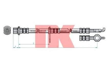Тормозной шланг Nk 8545157