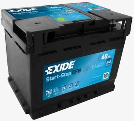 Аккумулятор автомобильный EXIDE EL600 60 Ач