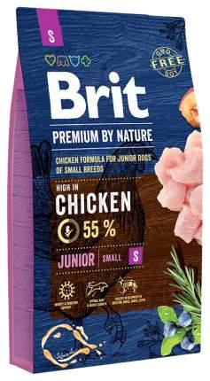 Сухой корм для щенков Brit Premium By Nature Junior S, для мелких пород, курица, 8кг