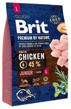 Сухой корм для щенков Brit Premium By Nature Junior L, для крупных пород, курица, 3кг