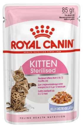 Влажный корм для котят Royal Canin Kitten Sterilised, курица, 12шт по 85г