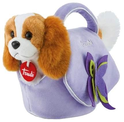 Мягкая игрушка Trudi Щенок кавалер кинг чарльз в лиловой сумочке 29717
