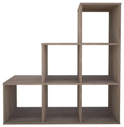 Стеллаж Polini Home Smart Каскадный 6 секций дуб