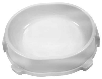 Одинарная миска для кошек и собак FAVORITE, пластик, серый, 0.22 л
