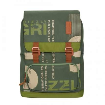 Рюкзак Grizzly RU-929-1 зеленый 14 л