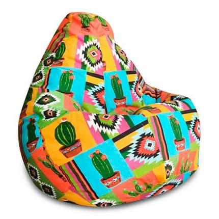 Кресло-мешок DreamBag Кактус, размер XL, жаккард, разноцветный