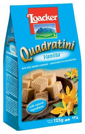 Вафли Loacker quadratini vanilla 125 г