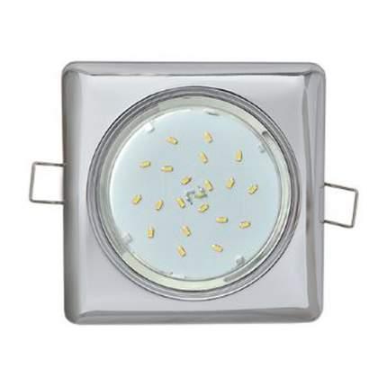 Встраиваемый светильник Ecola Gx53-H4 Квадрат Хром 41X107