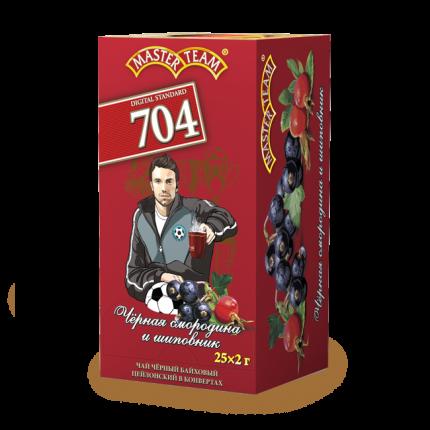 Чай черный Master Team черная смородина и шиповник  25 пакетиков