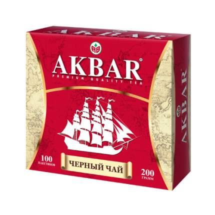 Чай черный Akbar корабль в пакетиках 200 г