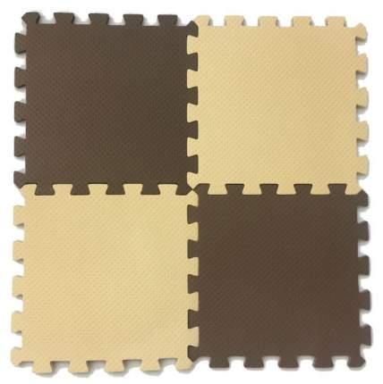 Развивающий коврик Eco Cover 25*25 см бежево-коричневый