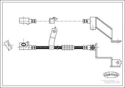 Шланг тормозной CORTECO 19032430