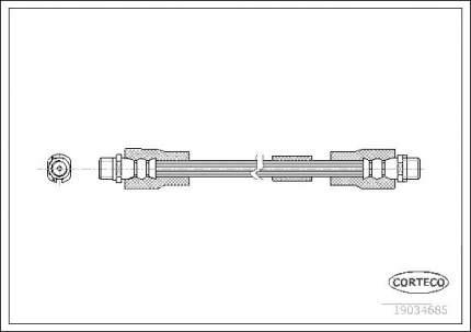 Шланг тормозной CORTECO 19034685