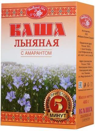 Каша Добрый Лен льняная с амарантом 400 г