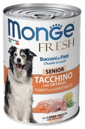 Консервы для собак Monge Dog Fresh Chunks In Loaf, мясной рулет, индейка овощи, 400 г