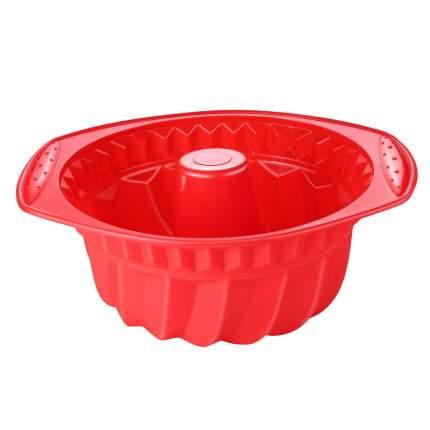 Tobox Силиконовая форма для выпечки бисквитного кекса красная 27*24*11 см
