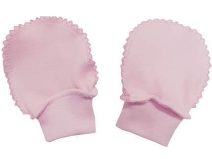 Рукавички Папитто интерлок однотонный р.16 Розовый И37-107н