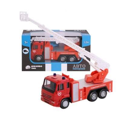 Машинка металлическая Автопанорама Пожарная служба 1:54 красный 1200091