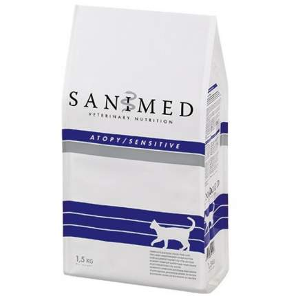 Сухой корм для кошек SANIMED Skin/Sensitive, при пищевой аллергии, рыба, 1,5кг