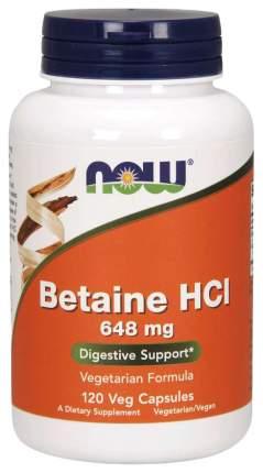 Для пищеварения NOW Betaine HCL 648 мг 120 капсул