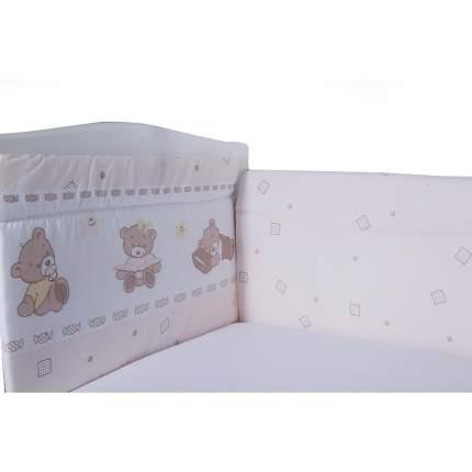 BAMBOLA Бортик в кроватку МИШКА Бязь 40x60-2 части. 40x120-2 части Бежевый 108