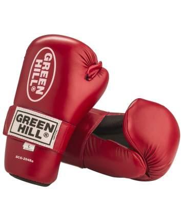 Накладки для карате Green Hill 7-contact SCG-2048c/а, к/з, красные (XS)