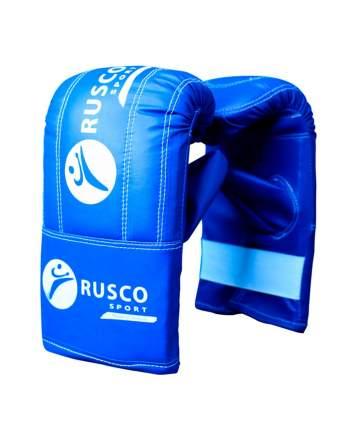 Перчатки снарядные Rusco Sport, кожзам, синий (S)