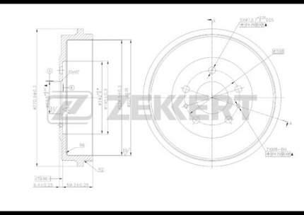 Тормозной барабан ZEKKERT BS-5186