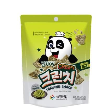 Чипсы Kim&Joy кукурузные с морской капустой и вкусом васаби