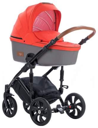 Коляска Tutis Viva Life 3 в 1 081 оранжево-красный, кожа серая