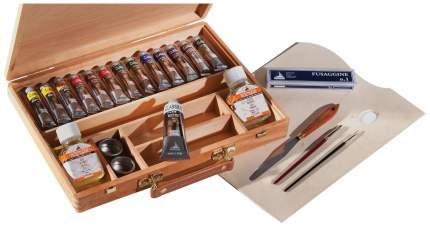 Масляные краски Maimeri Classico M0399074 в деревянном ящике 13 цветов