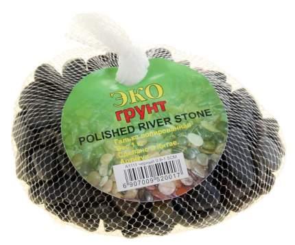 Грунт для аквариума ЭКОгрунт Галька полированная Черная 0,8 - 1,5 см 1кг