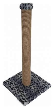 Когтеточка Зооник Пушок Столбик Серый леопард 50 см