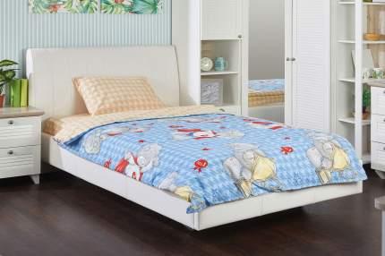 Постельное белье Мона Лиза MTY 1,5-спальное Ded на голубом