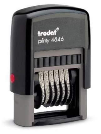 Нумератор Trodat Printy 4846. 6 разрядов. Высота шрифта: 4 мм.