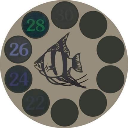 Термометр для аквариума Laguna LCD, черный, на клеевой основе